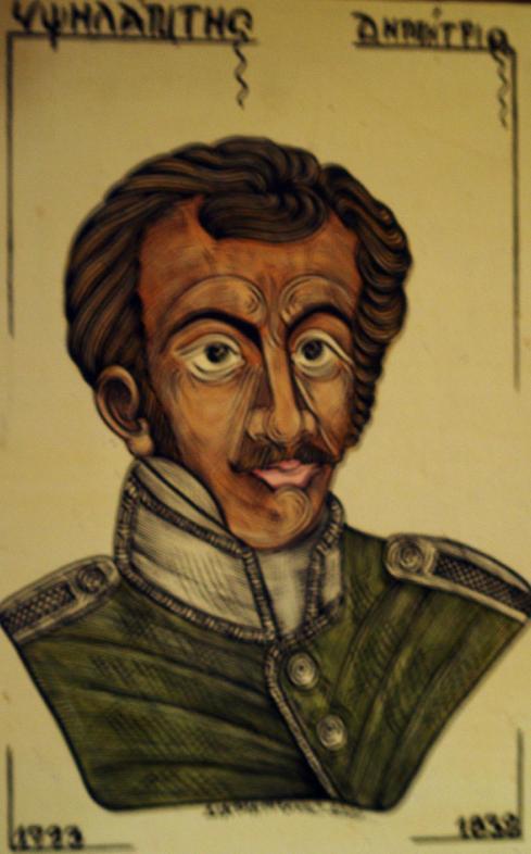 2 Ἰουλίου 1821. Ὁ Ὑψηλάντης φθάνει στὰ Τρίκορφα.