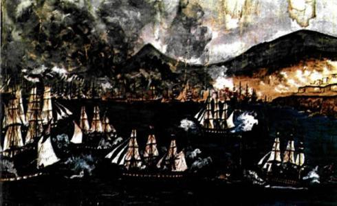 9 Ἰουλίου 1821. Ἡ πυρπόλησις τῶν μεταγωγικῶν τοῦ Καρᾶ Ἀλῆ πασσᾶ.